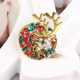 Clothing creative Christmas deer brooch