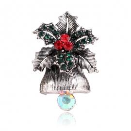 Creative christmas gift bell brooch