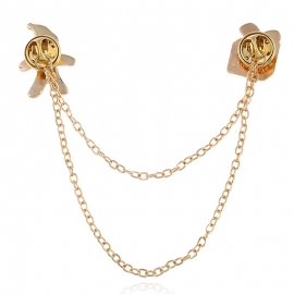 European and American fashion clothing creative chain pin ancient gold Christmas tassel thorn horse pin