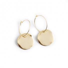 Round irregular wave surface s925 sterling silver earrings earrings earrings female jewelry