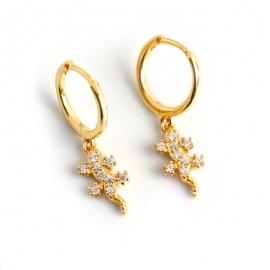 New earrings accessories diamond luxury gecko s925 sterling silver earrings earrings earrings female