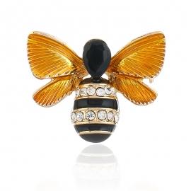 Fashion personality bee brooch, retro three-dimensional oil dripping small animal brooch