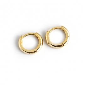 Round glossy gold s925 sterling silver earrings earrings earrings women