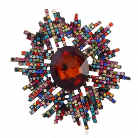 European and American fashion clothing creative abstract high-end brooch explosion freehand full of diamond brooch