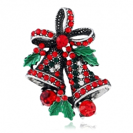 Christmas suit pin, creative gift bow, high-end corsage, retro bell Christmas brooch