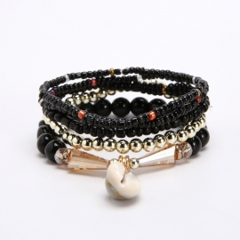 Bohemian multilayer small fresh elastic bracelet European and American ethnic style natural shell bracelet