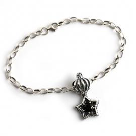 Pentagram zircon Thai silver s925 sterling silver bracelet bracelet female