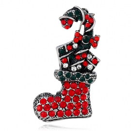 European and American retro Christmas brooch foreign trade personality creative suit Christmas stocking brooch