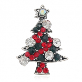 European and American vintage crystal Christmas tree exquisite brooch, creative gift, exquisite brooch, jewelry accessories