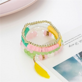 Bohemian multi-color combination jewelry, European and American fashion sweet hot-selling jewelry manufacturer spot wholesale