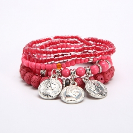 Cross-border foreign trade ethnic style bracelets, pendants, coins, exquisite bracelets, AliExpress ebay hot-selling bracelets