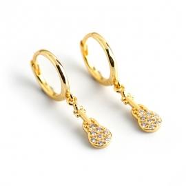 s925 sterling silver earrings personality trend diamond zircon guitar earrings earrings female