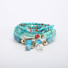 Cross-border e-commerce new multi-layer rice bead bracelet Bohemian ethnic fashion ladies jewelry