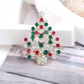 Clothing creative holiday brooch Christmas tree brooch
