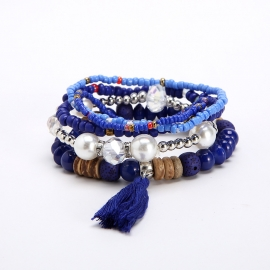 AliExpress Hot Selling Multilayer Elastic Bracelet European and American Ethnic Style Small Fresh Fashion Ladies Bracelet