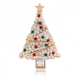 Cross-border source of wish explosion models popular in Europe and America AliExpress hot selling clothing creative Christmas tree brooch