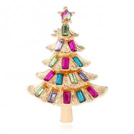 Christmas tree brooch