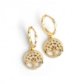 New earrings diamond-set peace tree s925 sterling silver earrings earrings earrings women