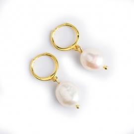 Baroque irregular freshwater pearl earrings earrings s925 sterling silver earrings female fashion earrings