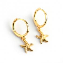 New style starfish s925 sterling silver earrings earrings