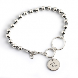 Sterling Silver Bracelet Hot Selling Retro Tag s925 Sterling Silver Bead Bracelet Bracelet