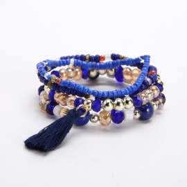 European and American retro bohemian multi-layer stretch bracelet Amazon hot selling exotic jewelry