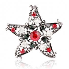 Creative Christmas gift five-star brooch