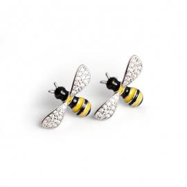 New earrings enamel glue small fresh bee s925 sterling silver earrings earrings jewelry female