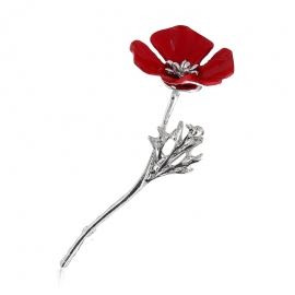 Creative flower poppy alloy brooch brooch