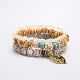 European and American fashion jewelry, bohemian metal leaf pendant bracelet, eaby hot sale