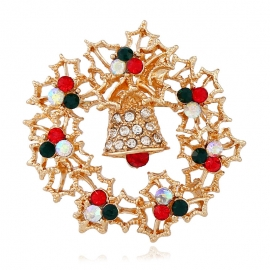New style diamond alloy jewelry European and American retro exquisite bell pins