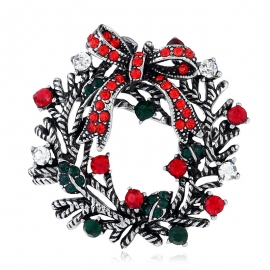 Ornaments New Exquisite Christmas Brooch Personality Creative Suit Pin Europe Retro Foreign Trade