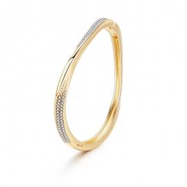 Summer new European and American jewelry gold-plated diamond bracelets minimalist style irregular die-casting open bracelets