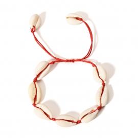 European and American cross-border jewelry, temperament, ethnic style, simple shell jewelry, wild temperament woven creative bracelet