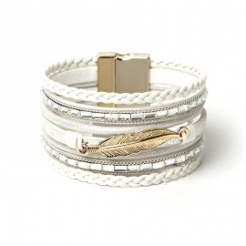 Hot sale Bohemian multi-layered bracelet woven bracelet leaf wide brim bracelet exquisite ladies jewelry