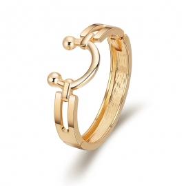 Popular in Europe and America Minimalist U-shaped Saddle Shape Boutique Gold-plated Bracelet Bracelet Amazon Hot Bracelet