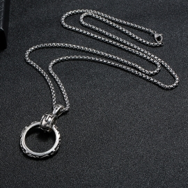 Simple alloy mens necklace wild student trendy personality pendant