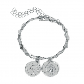 European and American cross-border jewelry retro coin embossed head jewelry womens simple multi-layer alloy creative personality bracelet