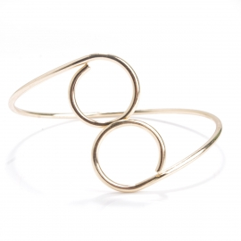 European and American jewelry, exaggerated, simple personality, high-end copper casting, geometric circle armband jewelry