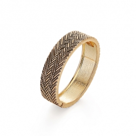 Alloy Bracelet Jewelry Baroque Herringbone French Vintage Gold Plated Bracelet