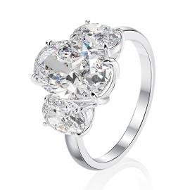 Elegant high quality fashion zircon S925 silver ring