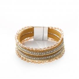 Explosive foreign trade Bohemian multilayer crystal bracelet inlaid with rhinestones handmade beaded bracelet