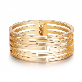 Best selling new European and American popular simple irregular geometric hollow wide side bracelet