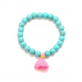 European and American cross-border jewelry, four seasons trendy all-match bracelets, multi-color bracelets, handmade elastic bracelets