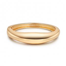 European and American womens jewelry, minimalist, wild, wide-line bracelet, glossy gold-plated bracelet, hot selling bracelet at night market