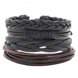 Multi-layer woven cowhide bracelet DIY four-piece combination leather bracelet