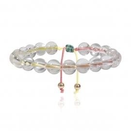 European and American cross-border jewelry simple beaded colorful wax thread jewelry female acrylic round beads handmade geometric bracelet