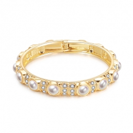 Niche retro bracelet net red new European and American palace baroque style retro pearl light luxury diamond bracelet