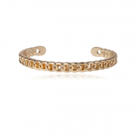European and American cross-border jewelry, personalized adjustable mirror bracelet for women, simple single-layer wave geometric chain bracelet