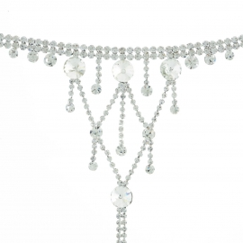 European and American jewelry fashion Korean version luxury full diamond micro-inlaid yoga bracelet foot accessories